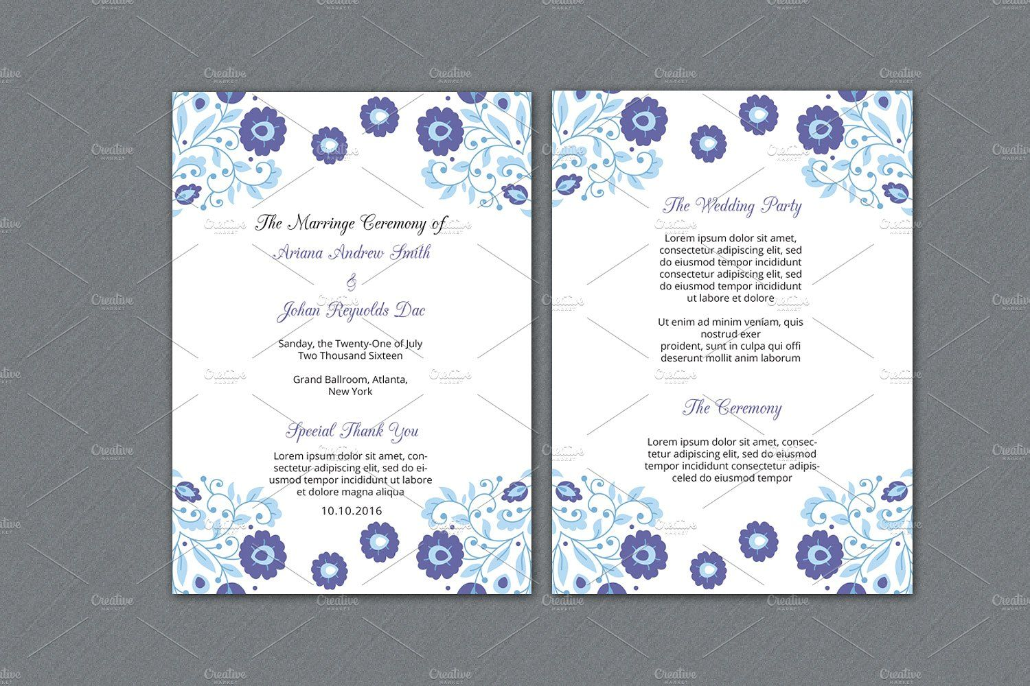 Wedding Fan Program Template Program Template Wedding Ceremony - Photoshop wedding program template