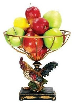 Rooster Bowl: A Lovely Accent For Your Kitchen Island Or Table Is A Rooster  Bowl
