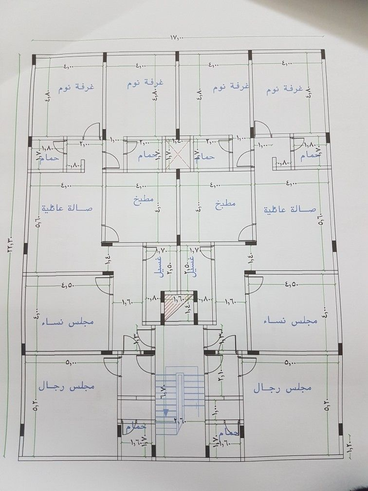 Pin By Turki On كروكي شقق مساحة ٣٢٠م Modern Style House Plans How To Plan 2 Bedroom House Plans