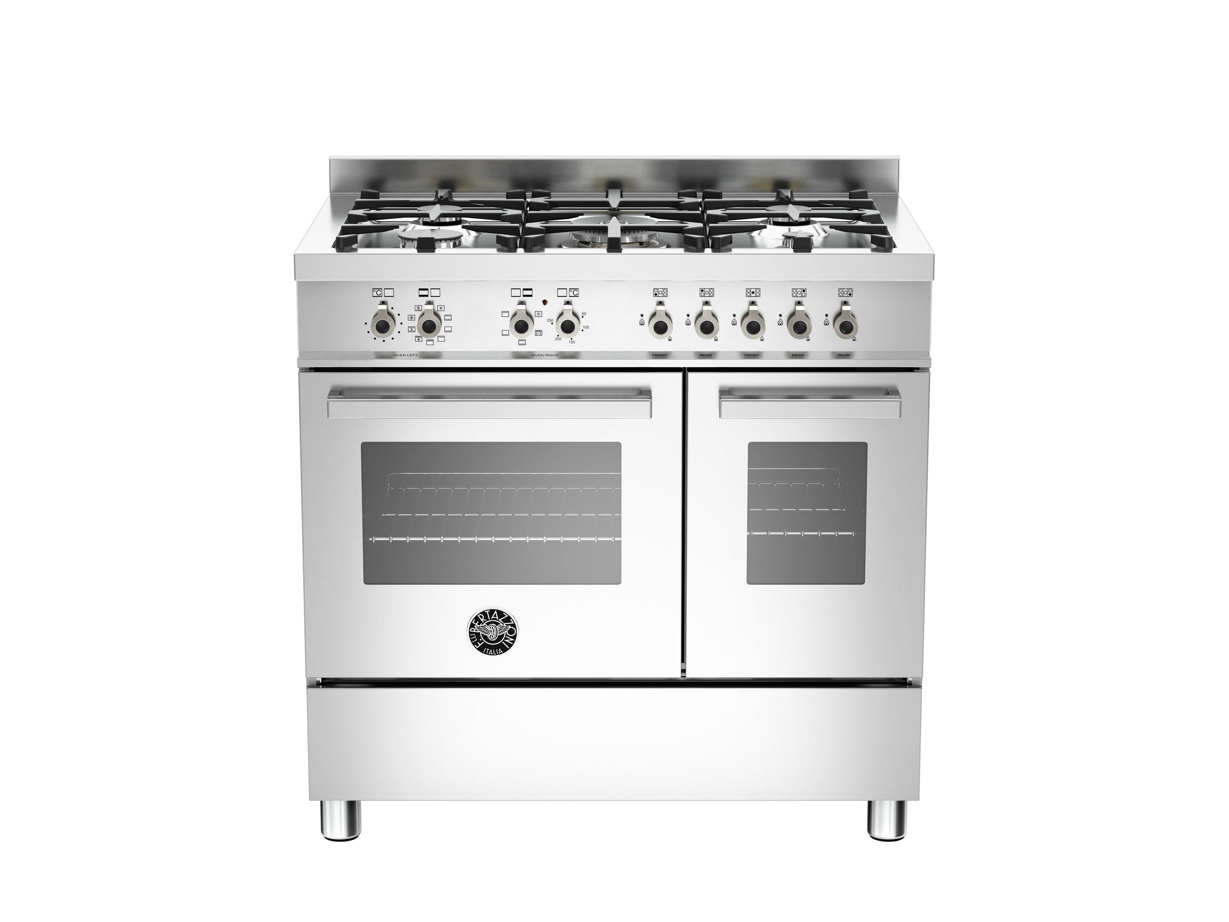 Professional Cooker Professional Pro90 5 Mfe D Xe By Bertazzoni Range Cooker Electric Double Oven Double Oven