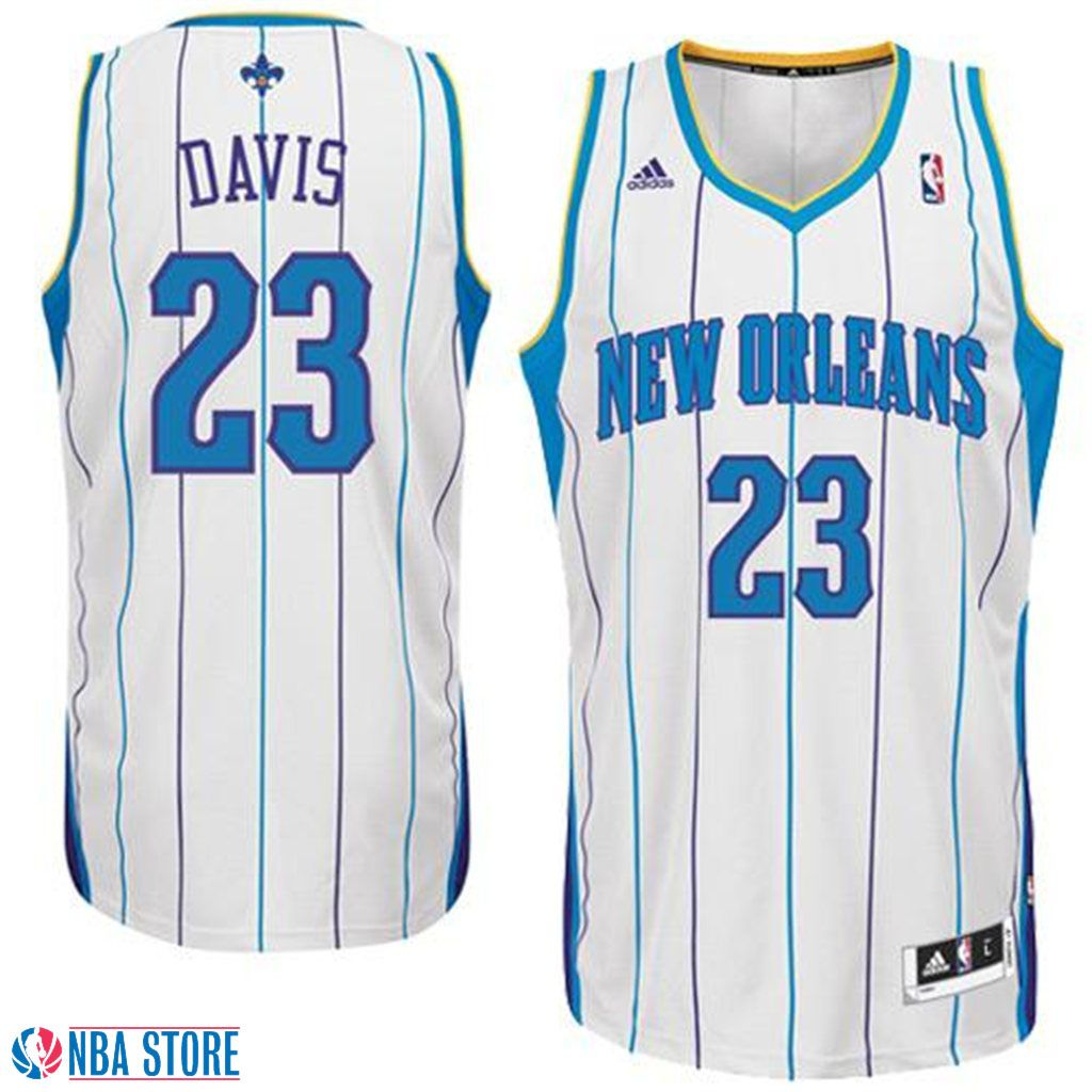 3baeee10f06 Anthony Davis New Orleans Hornets Revolution 30 Swingman White Jersey