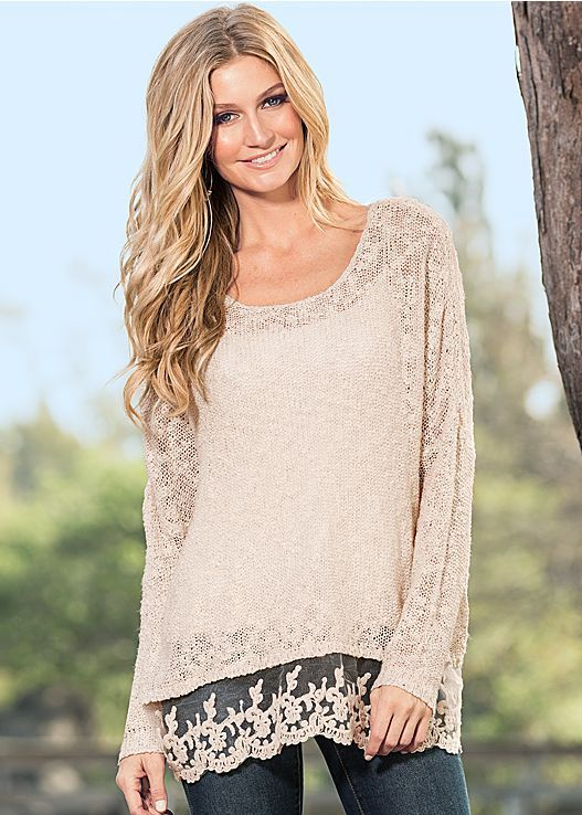 Women's Lace hem sweater by VENUS | KM's Walk-In Closet ...