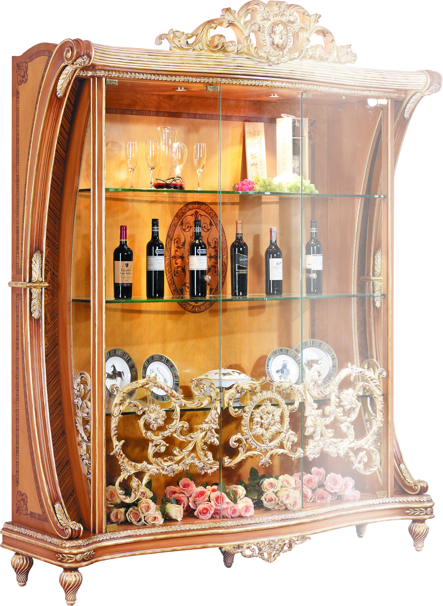 Living Room Furniture Curio Cabinet