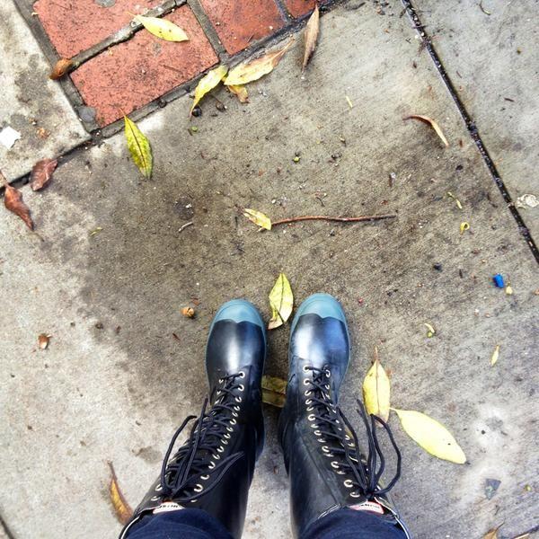 Hunter Lace Up Rain Boots