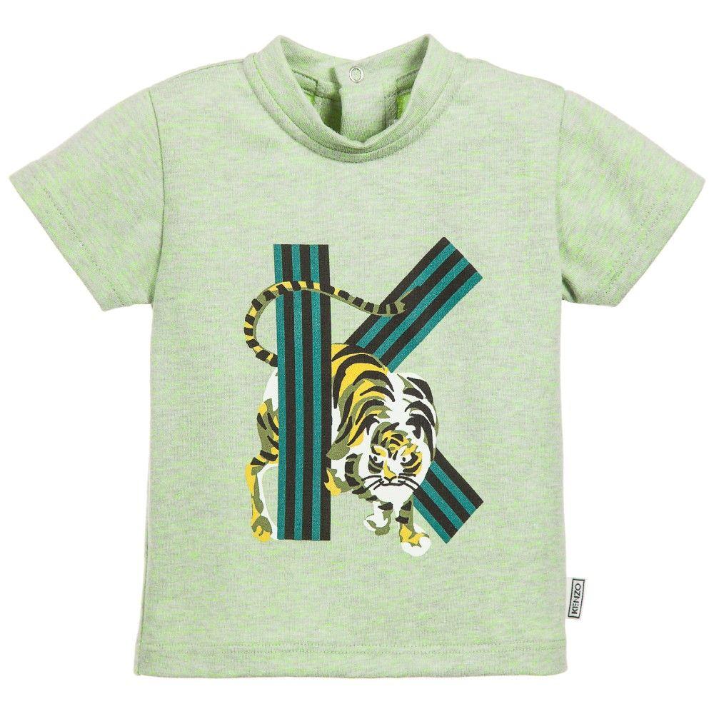e79d2b55 Jungle Kids' Green Tiger & Logo Print T-shirt, Kenzo | mj | Kenzo ...