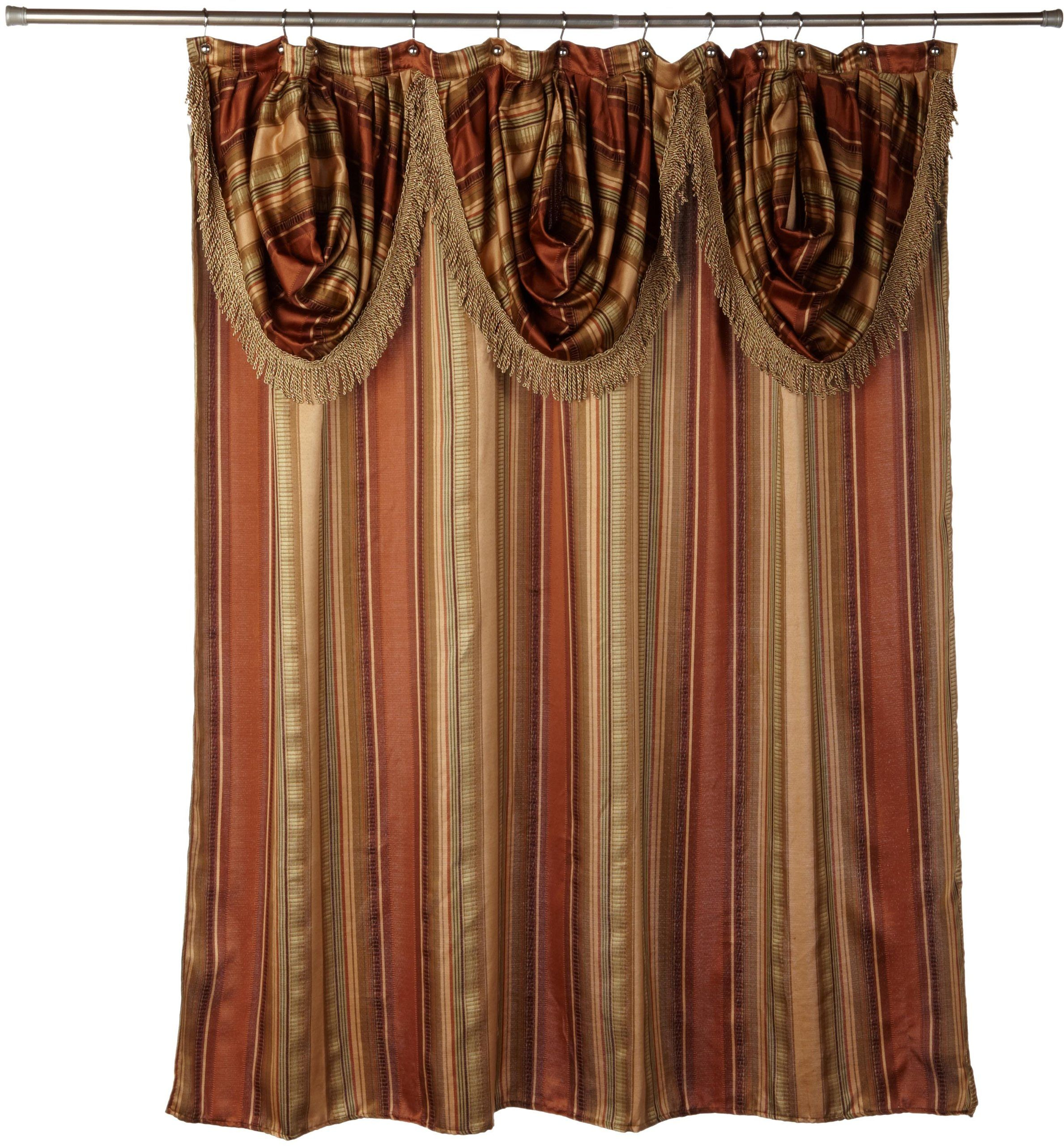 Popular Bath Contempo Spice With Attached Valance Fabric Shower