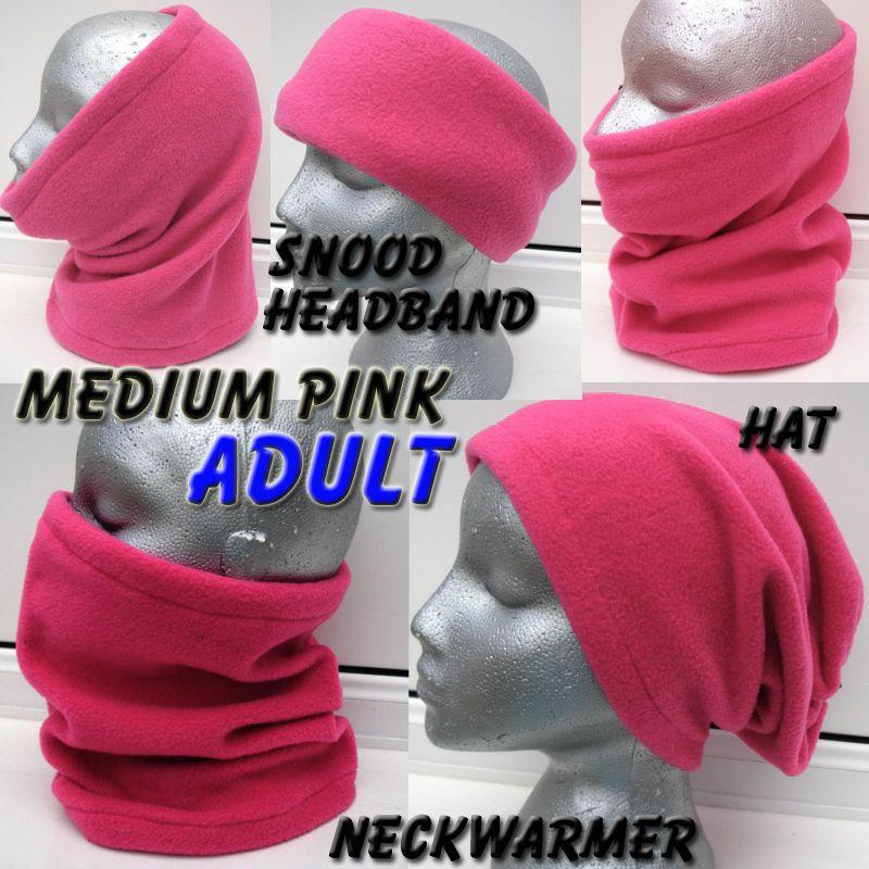 Pink fleece snood