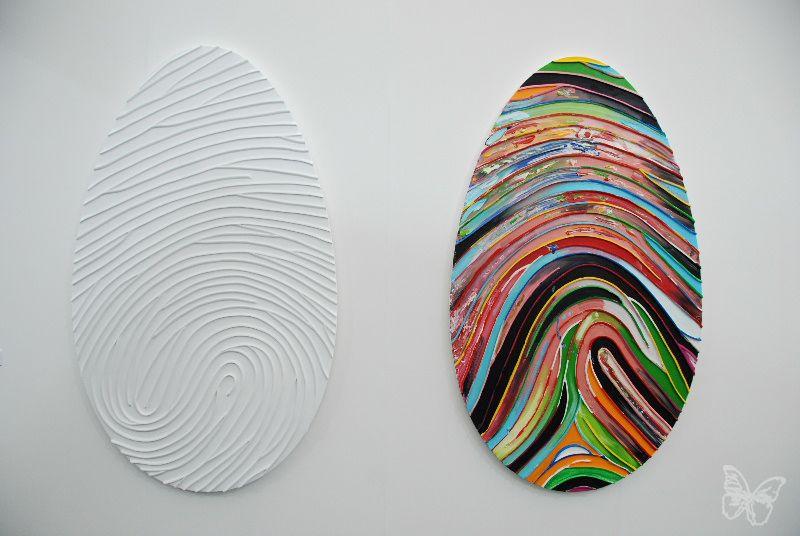 Fingerprint Swhirls By Marc Quinn Frieze Art Fair Art