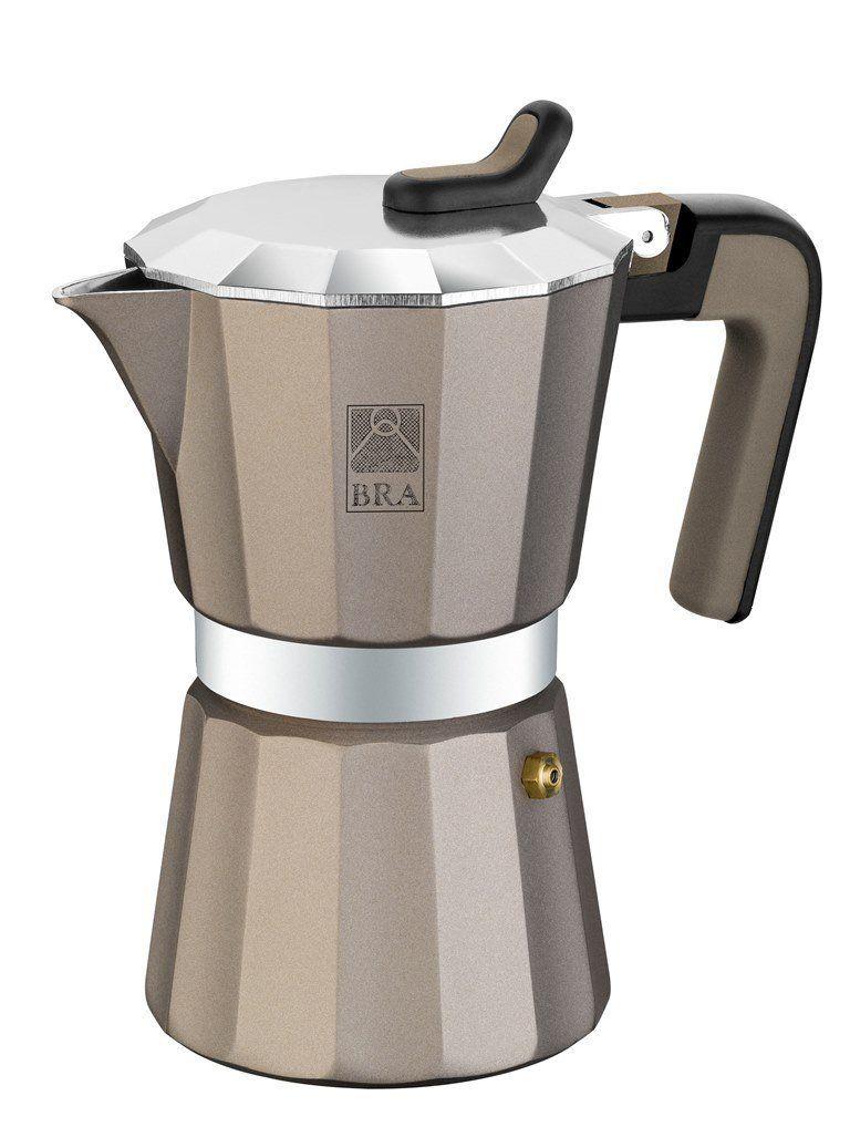 Bra Design Titanium 6 Cup Aluminum Coffee Maker Coffee