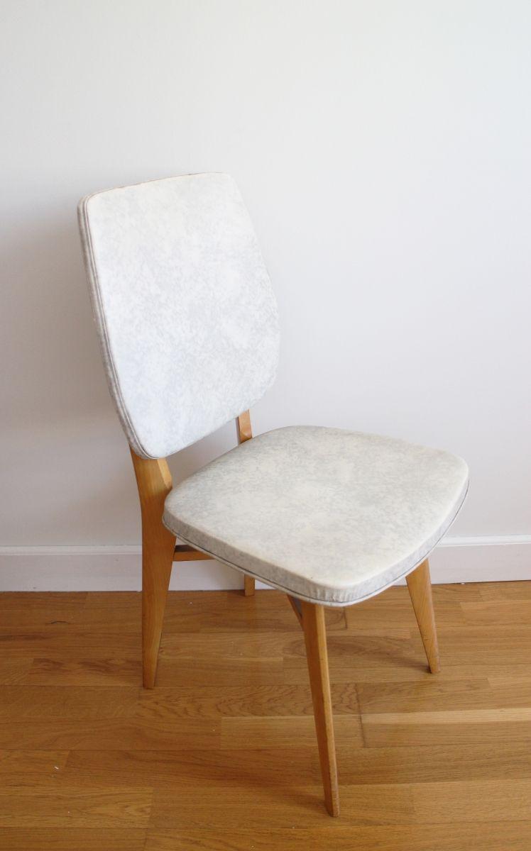 Chaise Vintage Scandinave Pieds Compas En Skai Effet Marbre 70s Luckyfind Chaise Vintage Chaise Chaise Scandinave Pas Cher