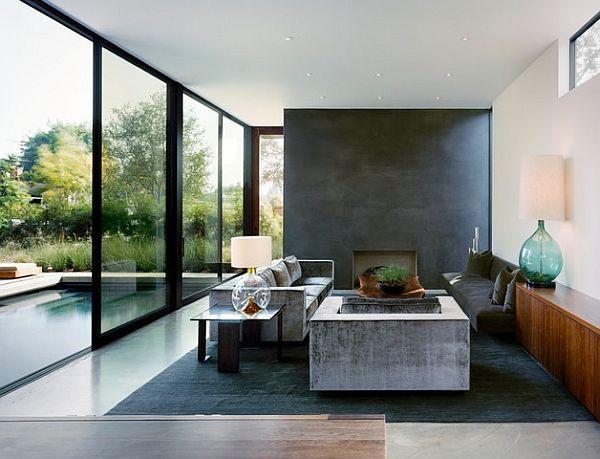 Dashing Room Combines Industrial And Minimalist Styles Decoist Minimalism Interior Minimalist Living Room Design Minimalist Interior