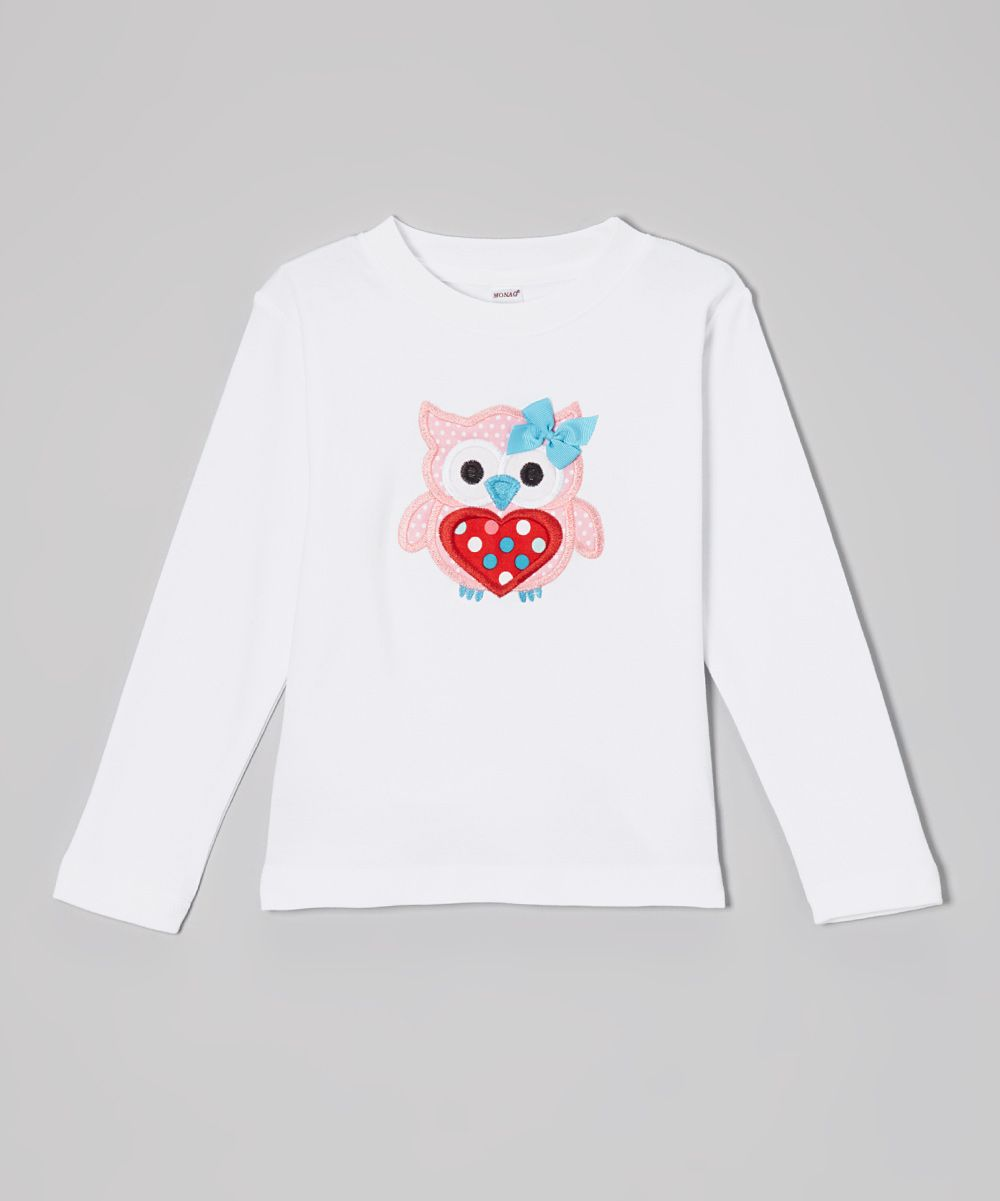 White Heart Owl Tee - Toddler | Daily deals for moms, babies and kids