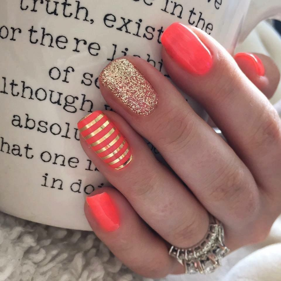 Pin by Phericia Palmer on Hair & Nails . | Pinterest | Coral gel ...
