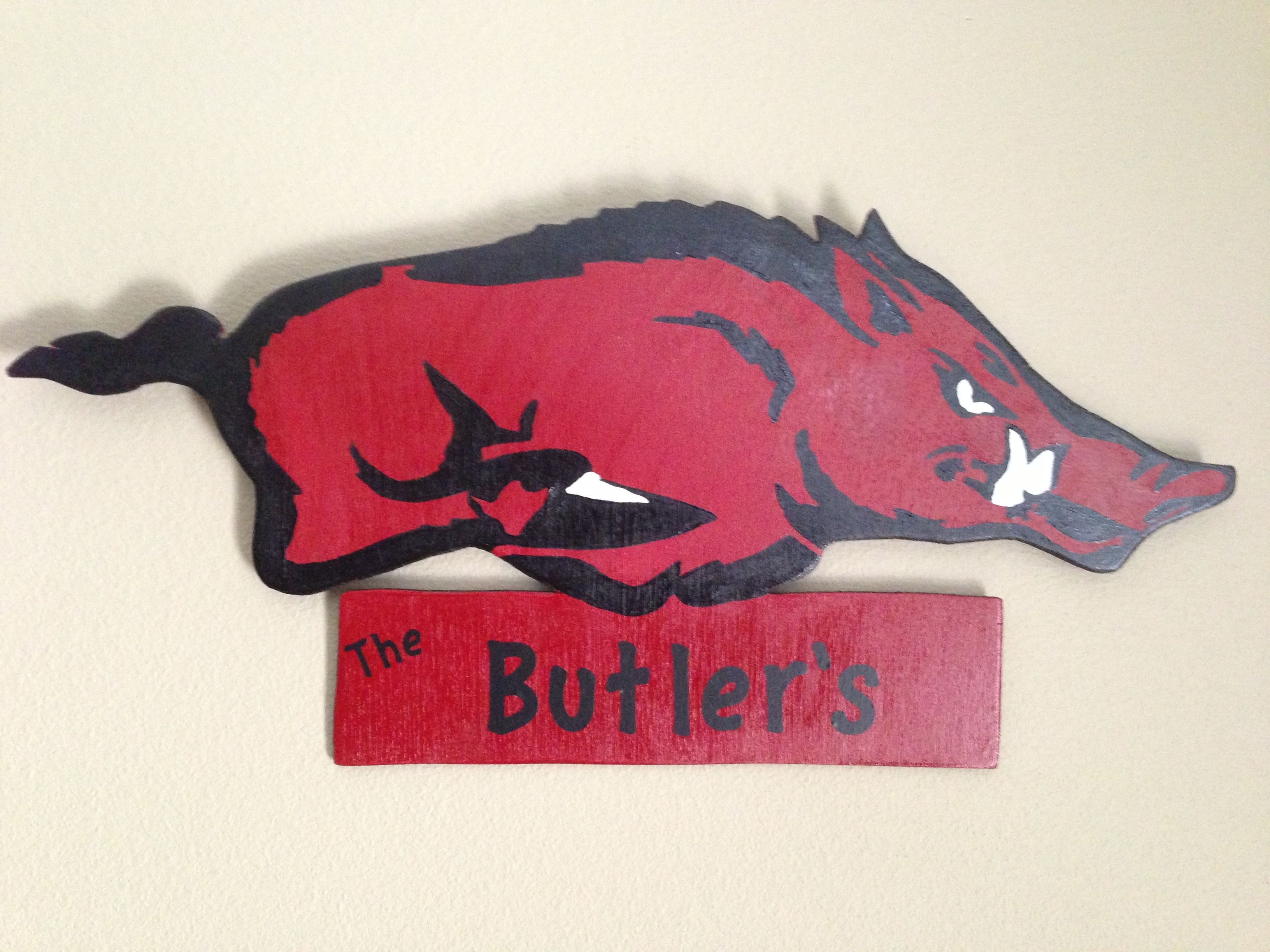 our razorback ruger state map decor arkansas home