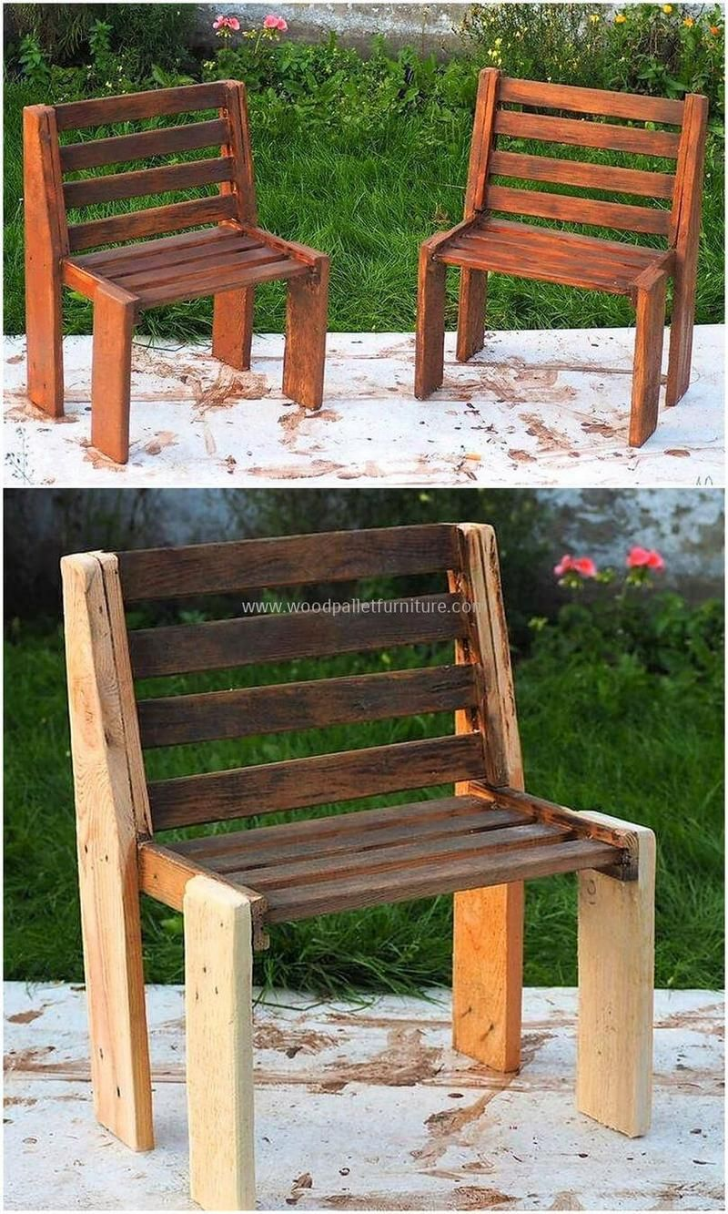 Now Construct Another Fabulous Chairs Design For Your Kid S Room These Reclaimed Wooden P Wood Pallet Furniture Pallet Garden Furniture Pallet Patio Furniture