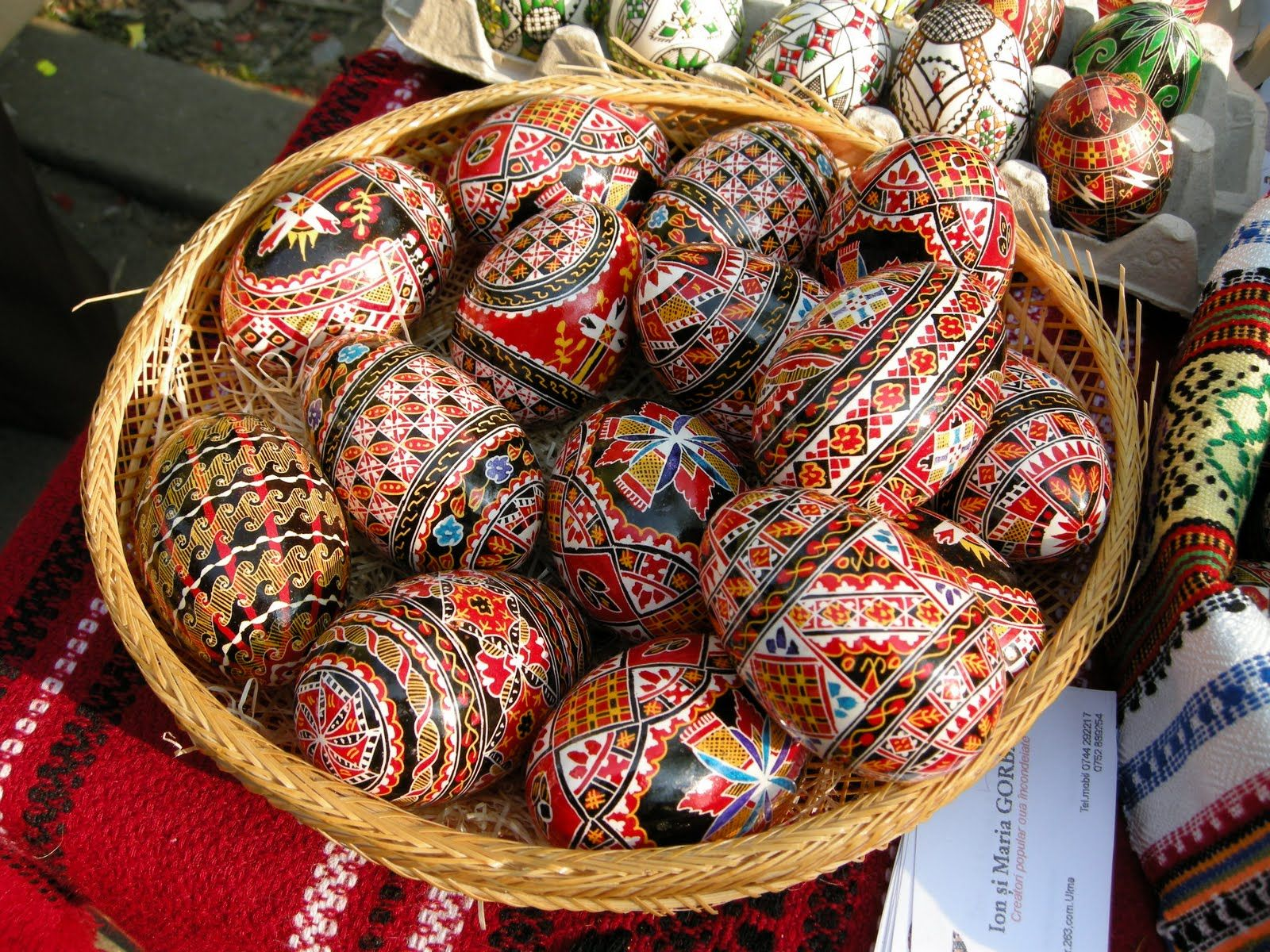 Romanian painted eggs. Beautiful traditions of my home.