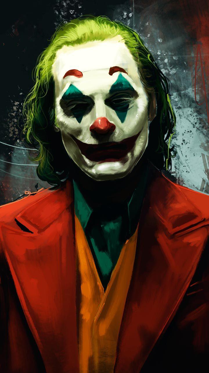 Joaquin Phoenix In Joker Wallpaper Green Red Lukisan Wajah Gambar Gadis Manga
