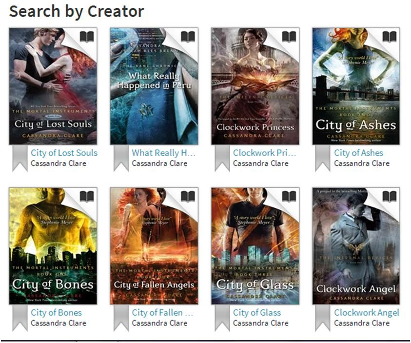 Cassandra Clare and loads of great teen reads on ebook! Download the Overdrive media console app, register, find 'Boroondara Libraries' and then download for free!