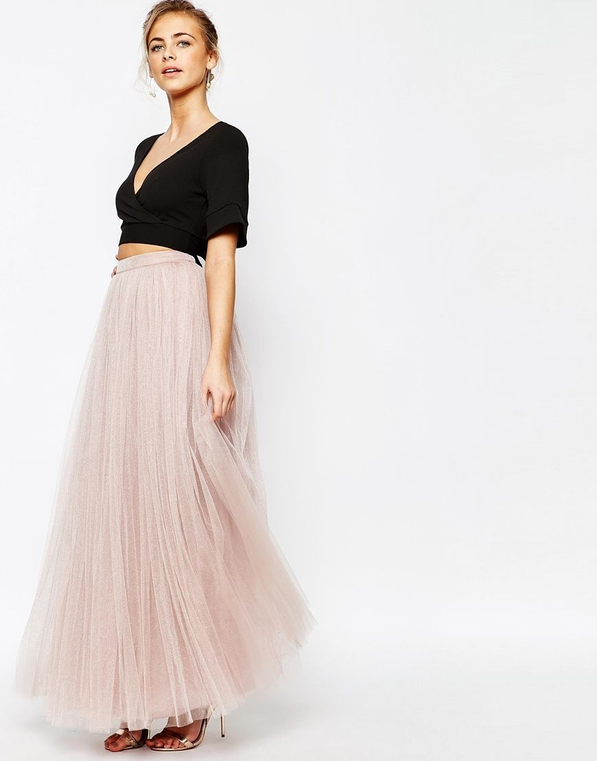 879d93d5eeae Little Mistress Maxi Tulle Prom Skirt in 2019 | Fashion Finds ...