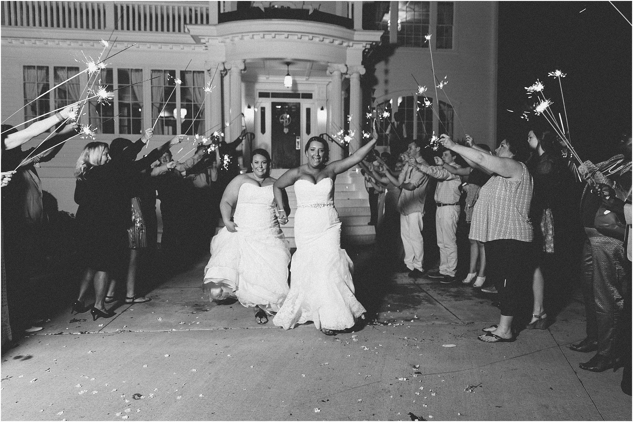 Wedding Reception Sparkler Exit - Jessica Ryan Photography