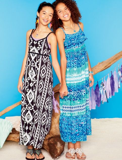 Animal Ruffle Maxi Dress | Girls Dresses Clearance | Shop Justice ...