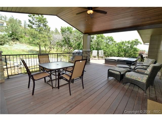 Private outdoor living space with spa/hot tub in Colorado Springs. 950 Big Valley Dr.