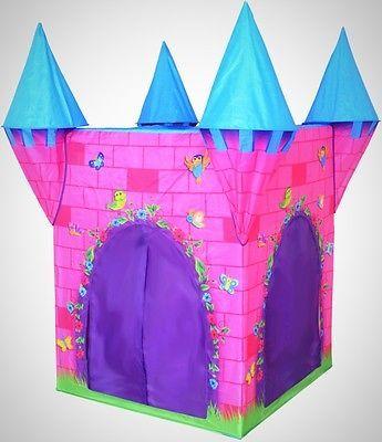 Kidu0027s Pink Pop Up Castle Play Tent With FlowerBirds And Insects Indoor Outdoor & Kidu0027s Pink Pop Up Castle Play Tent With FlowerBirds And Insects ...