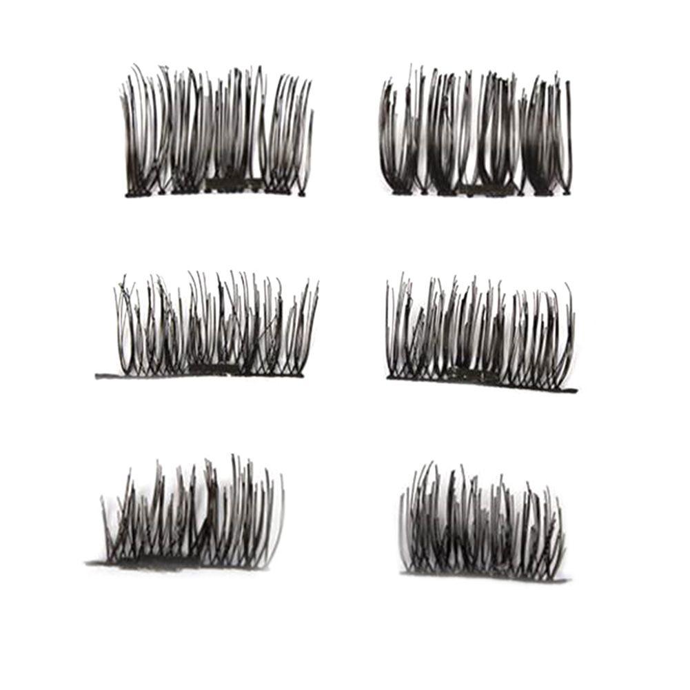08847bc2b12 4 Pcs/Pairs 3D Magnetic False Fake Eyelashes Extension Eye Beauty Makeup  Accessories Soft Hair False Eyelashes Dropshipping