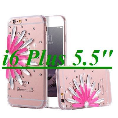 Sun Flower Diamond Clear Case For iPhone 6 /6s 4.7 Fashion Bling Case for iPhone 6 /6s Plus 5.5 Cool Soft TPU Ultra Transparent