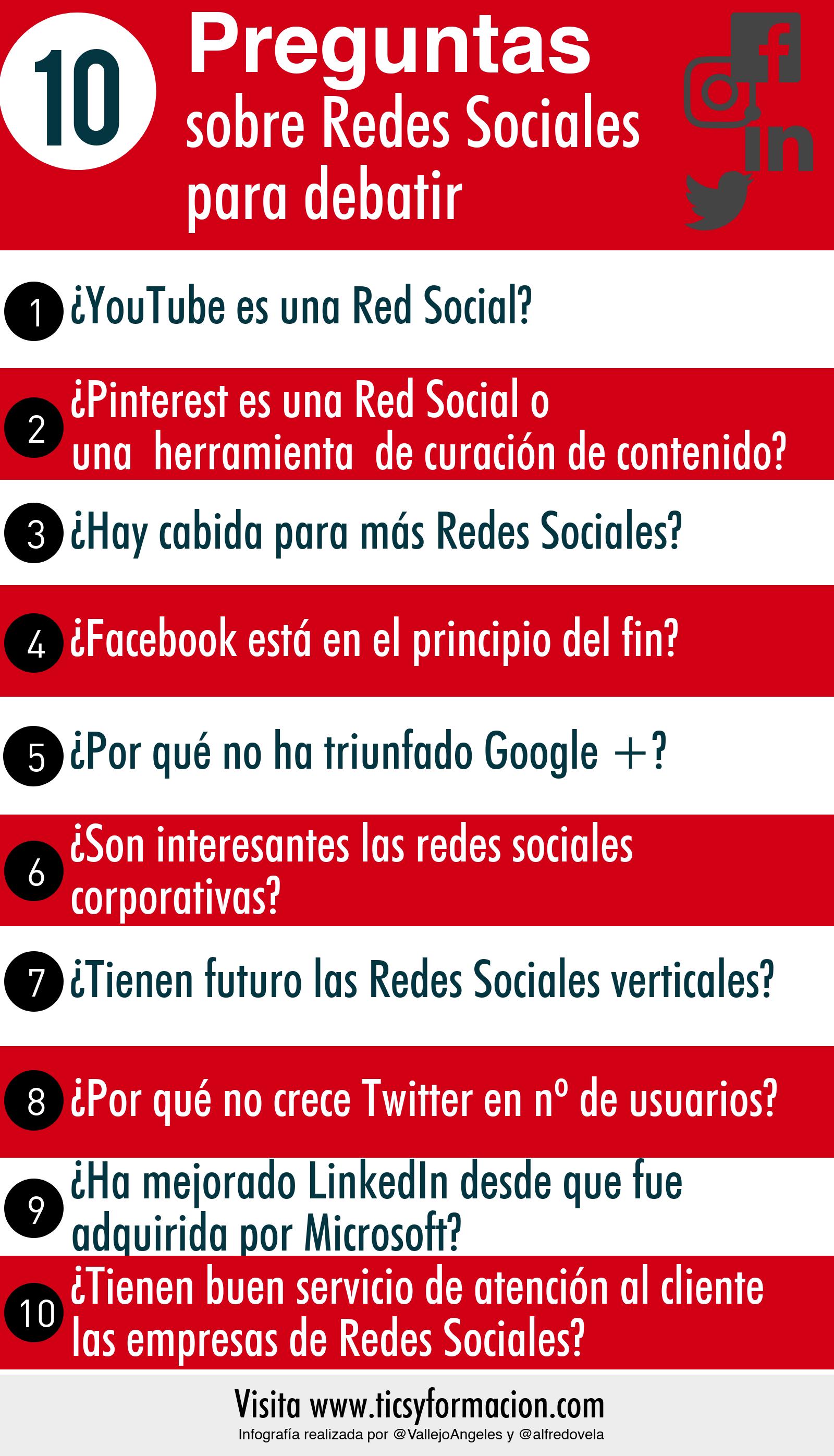 10 Preguntas Sobre Redes Sociales Para Debatir Infografia Infographic Socialmedia Tics Y Formación Redes Sociales Socialismo Preguntas