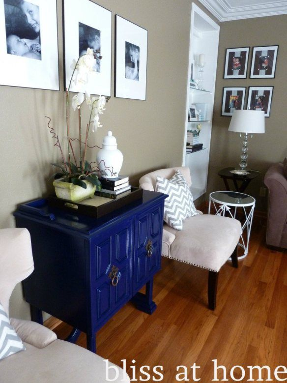 DIY table makeover–how to spray paint furniture |