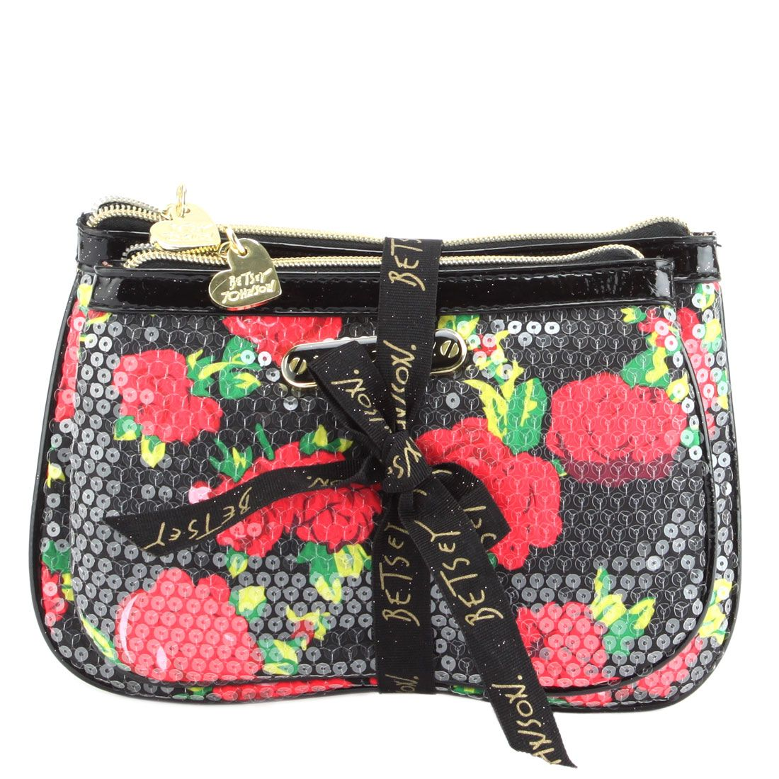 Betsey Johnson 2 Piece Cosmetic Set, Glam up your cosmetic carrying!