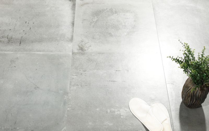 Get The Look Industrial Style With A Polished Concrete Tile Design Tiles Concrete Tiles Concrete Tiles Bathroom Concrete Look Tile