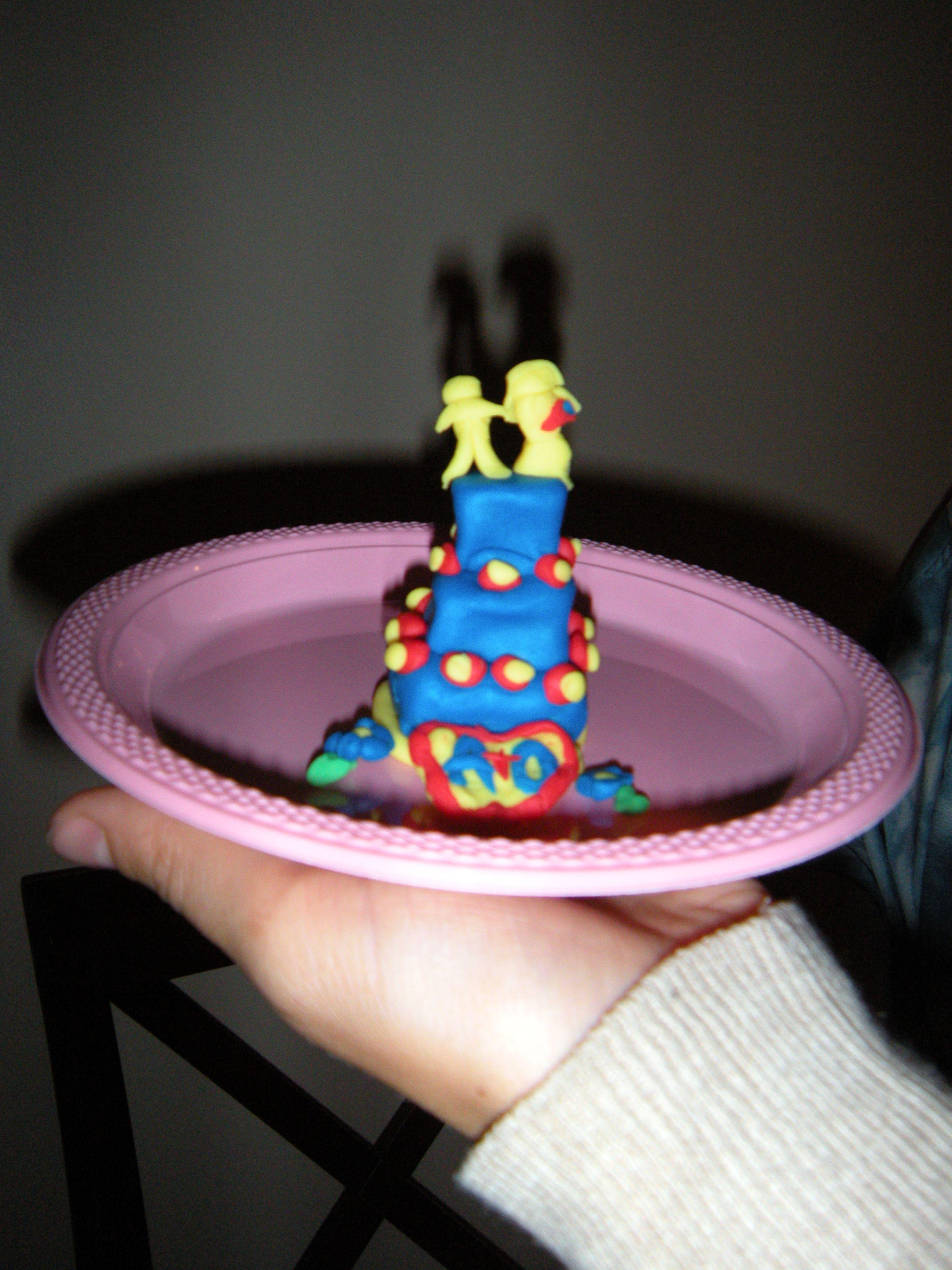 bridal shower game playdough wedding cake game