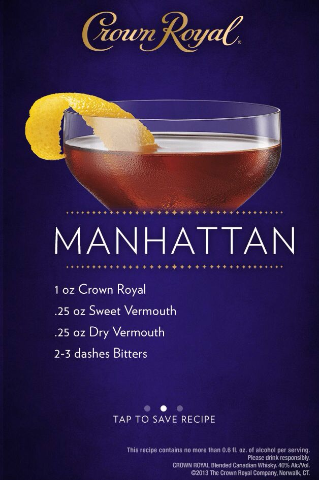 Crown royal manhattan drink and food recipes pinterest i usually use black velvet which makes a great and economical manhattan but sometimes i slum it with crown royal forumfinder Images