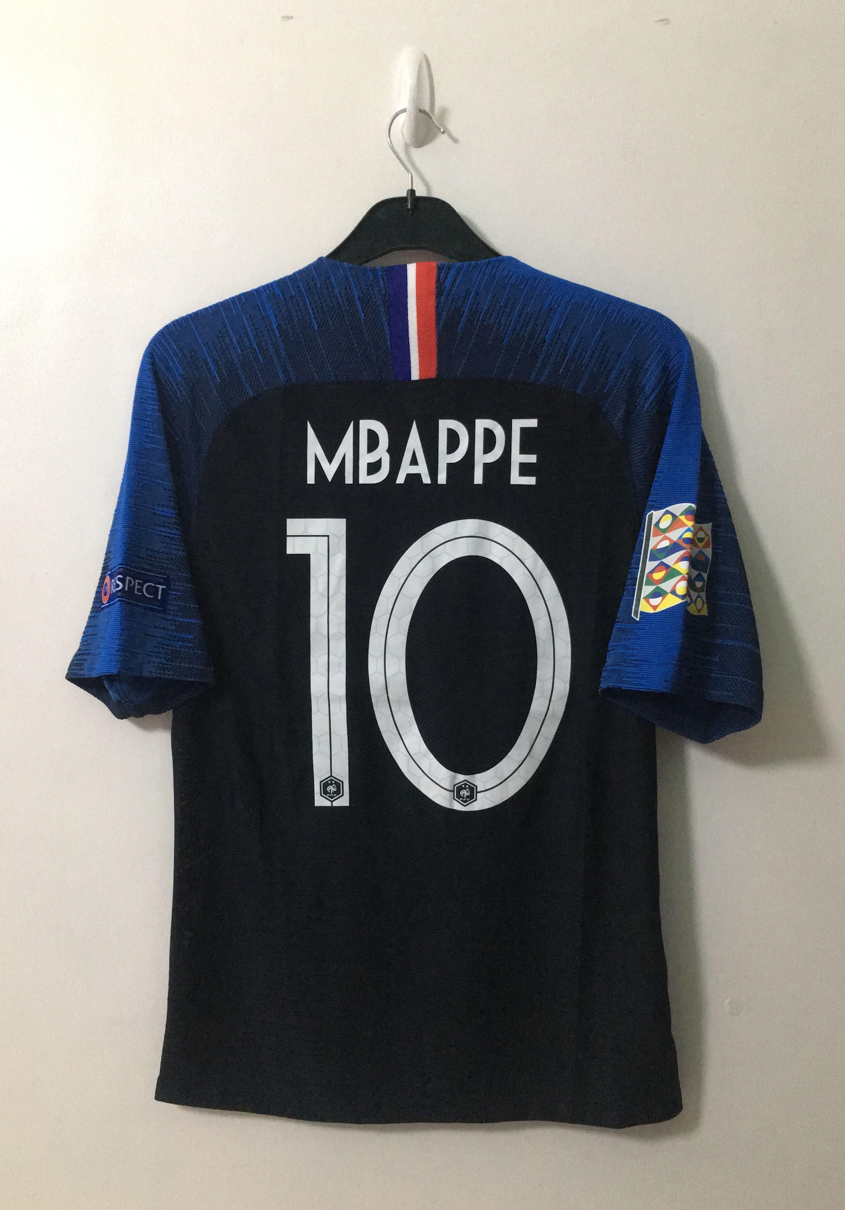 the latest 60d45 c20ba 2018 Nike France Home #10 Kylian Mbappe UEFA Nations League ...