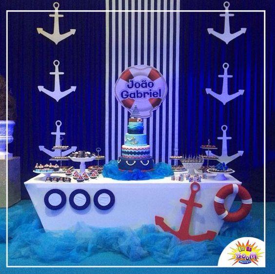 Resultado de imagen para decoracion nautica para fiestas for Decoracion nautica infantil
