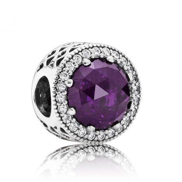 d93221be7 PANDORA Royal Purple Radient Heart Charm 791725NRP | John Greed Jewellery