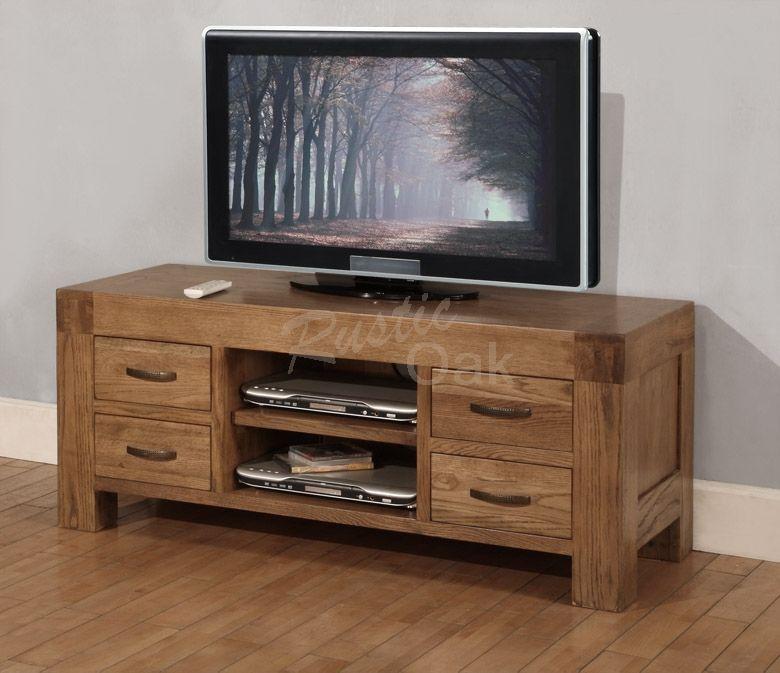 Santana Tv Unit With  Drawers Rustic Oak Furniture