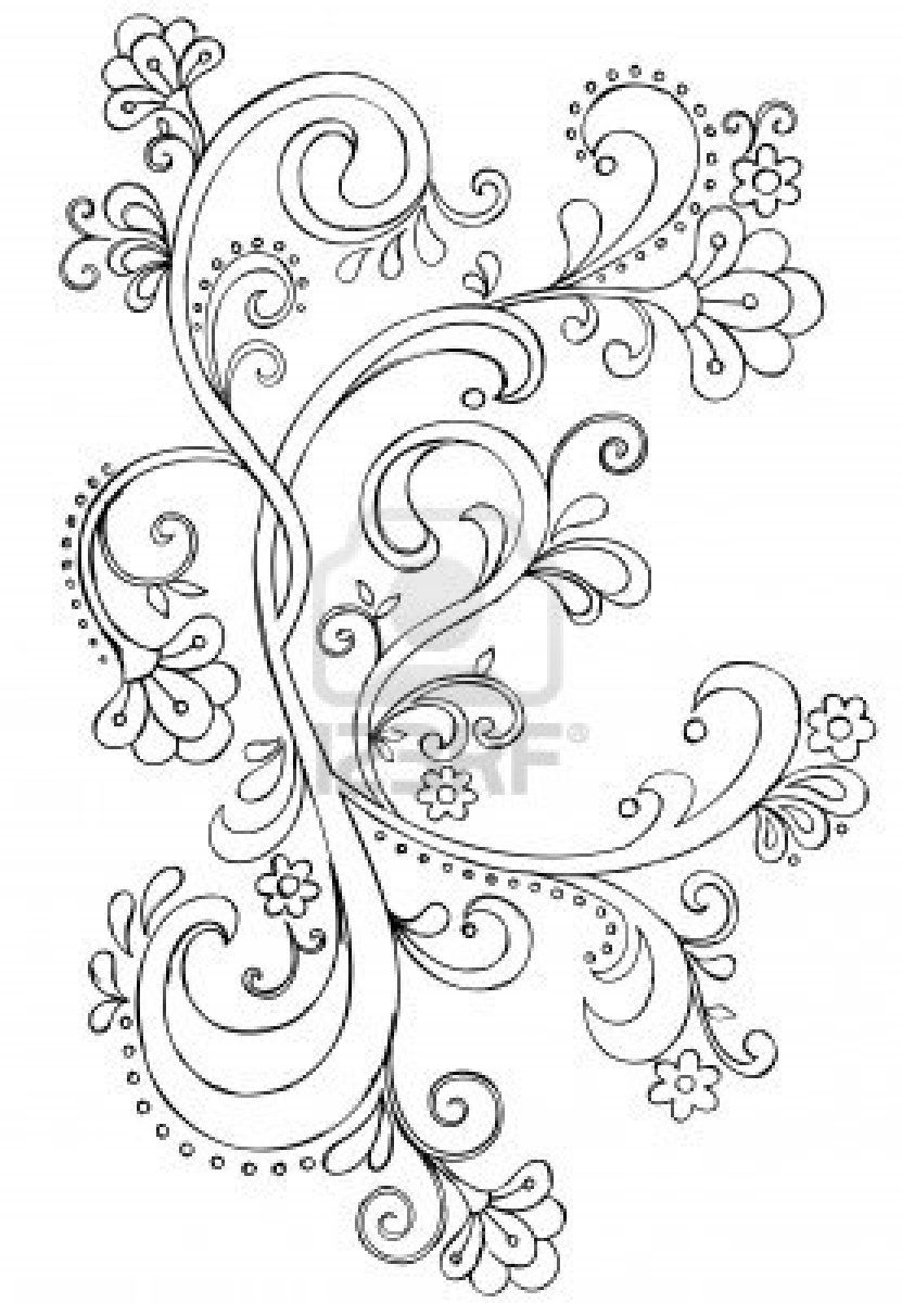Think Line Scroll Ornate Wiring Diagrams Light Laser Led Gt Xenon Circuits Simple Strobe Circuit L12379 Sketchy Doodle Vector Drawing Royalty Free Cliparts Rh Pinterest Com Au Decorative