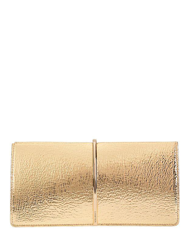 Nina Ricci Arc Detail Clutch: Gold