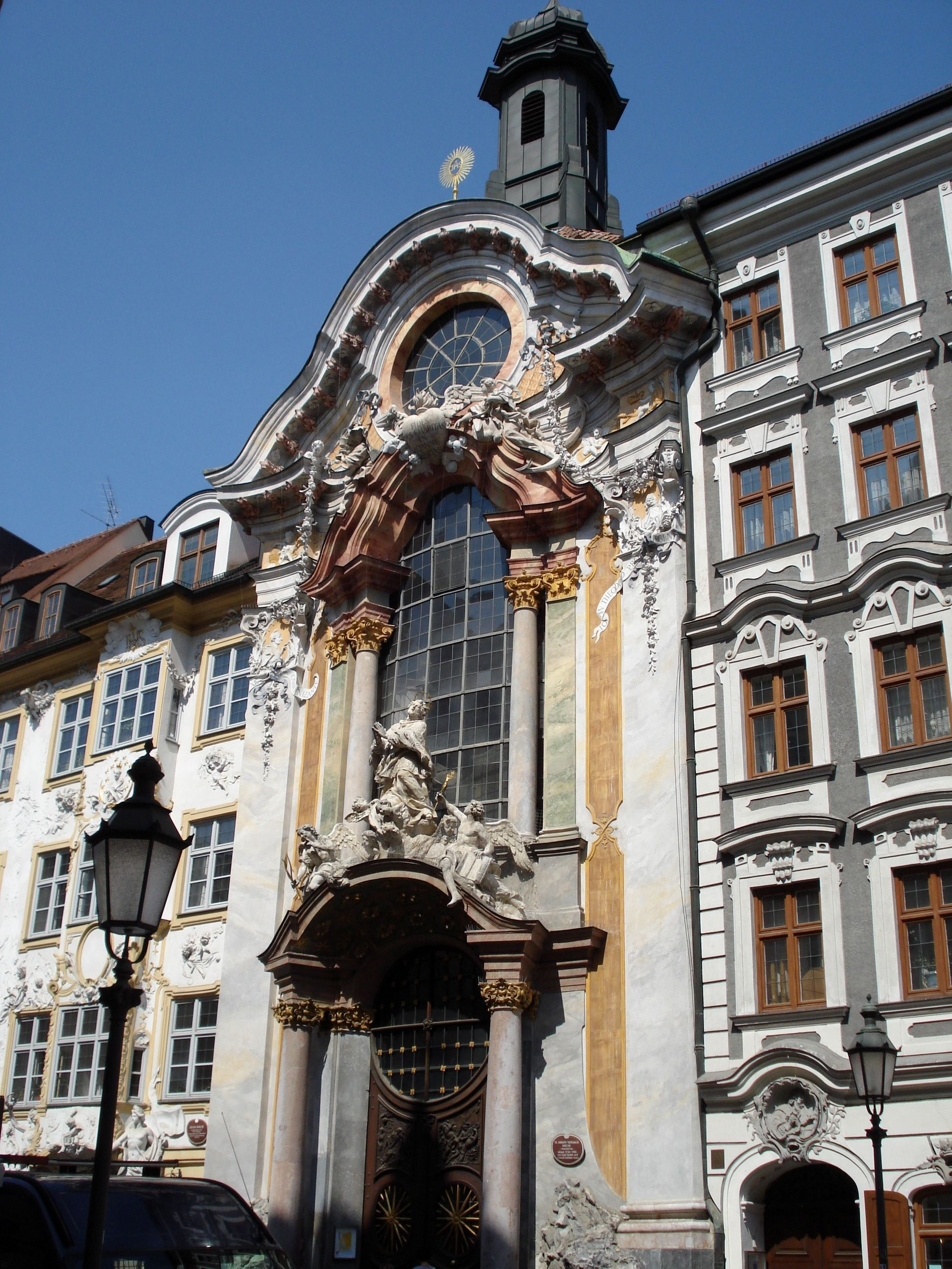 baroque architecture; germany- asamkirche or st. john nepomuk