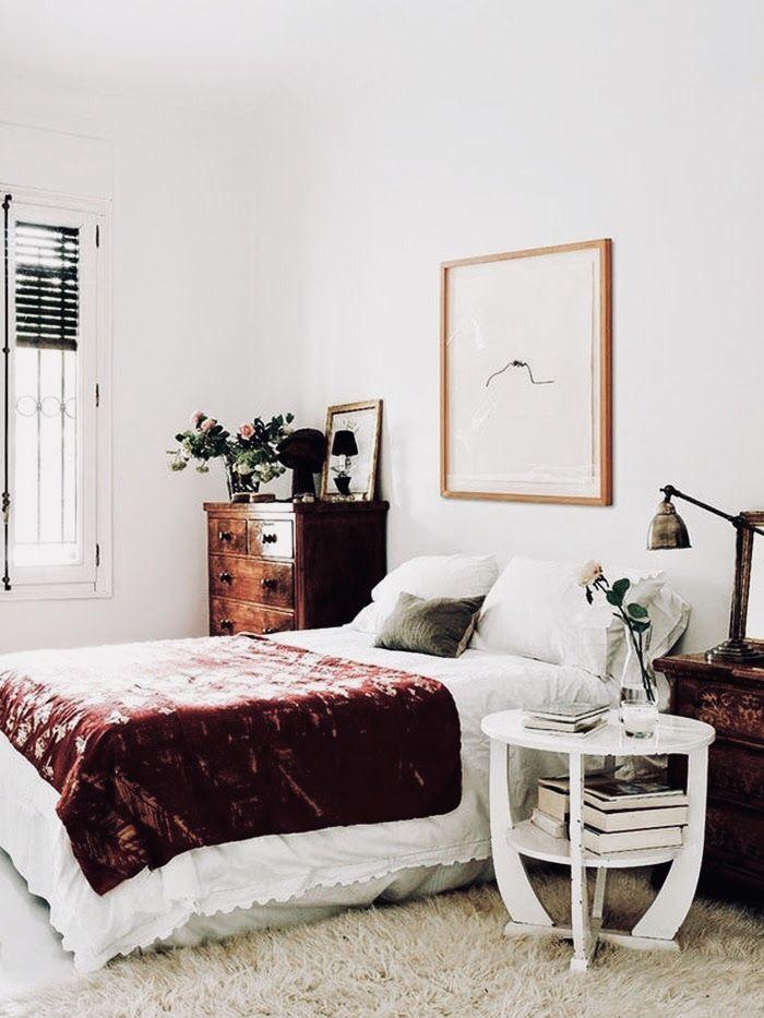 Dark Stain. Minimalist. White. Plumb Blanket. | Home | Pinterest |  Schlafzimmer, Schlafzimmer Einrichten Und Schlafzimmer Ideen