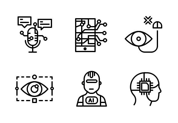 Artificial Intelligence Icons By Iconperk Com Artificial Intelligence Machine Learning Artificial Intelligence Artificial Intelligence Movie