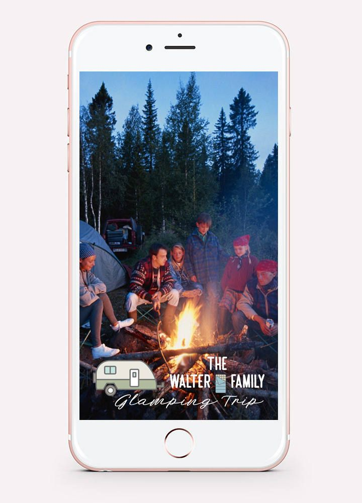 24 HOUR Custom GLAMPING Snapchat GEOFILTER Camping Filter - copy blueprint events snapchat