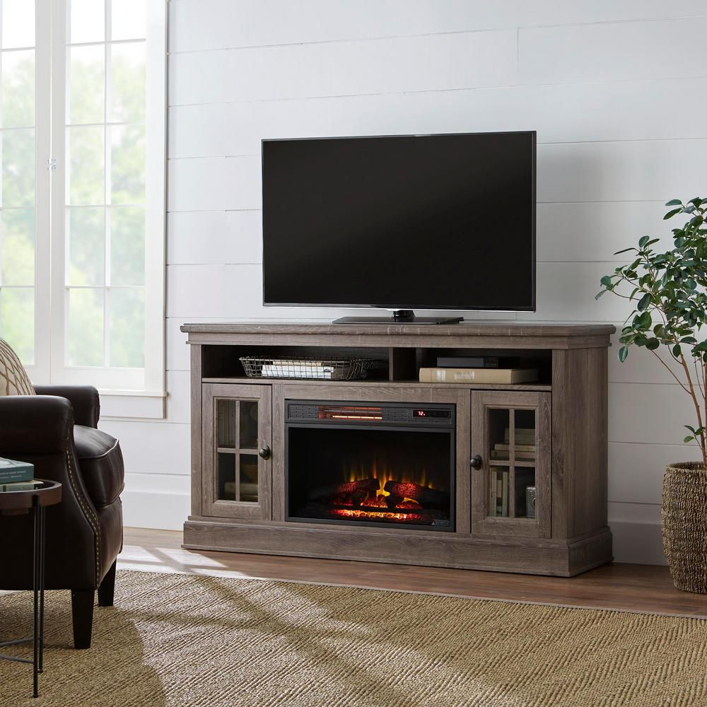 Home Decorators Collection Highview 59 In Freestanding Media Console Electric Fireplace Tv Stand I Fireplace Tv Stand Electric Fireplace Tv Stand Fireplace Tv