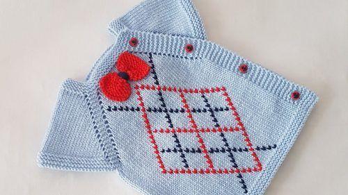 Photo of Showy Bow Tie Side Button Lozenge Sliced Vest Model   – Bebek yelek #babys…