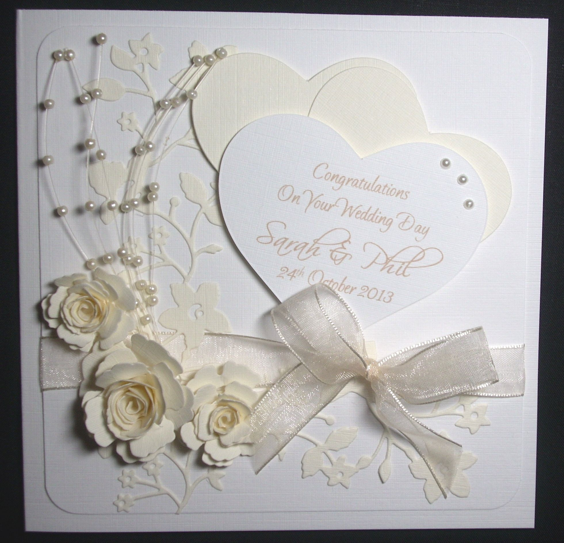 Beautiful Boxed Card This Was Made For A Wedding But Can Be Adapted