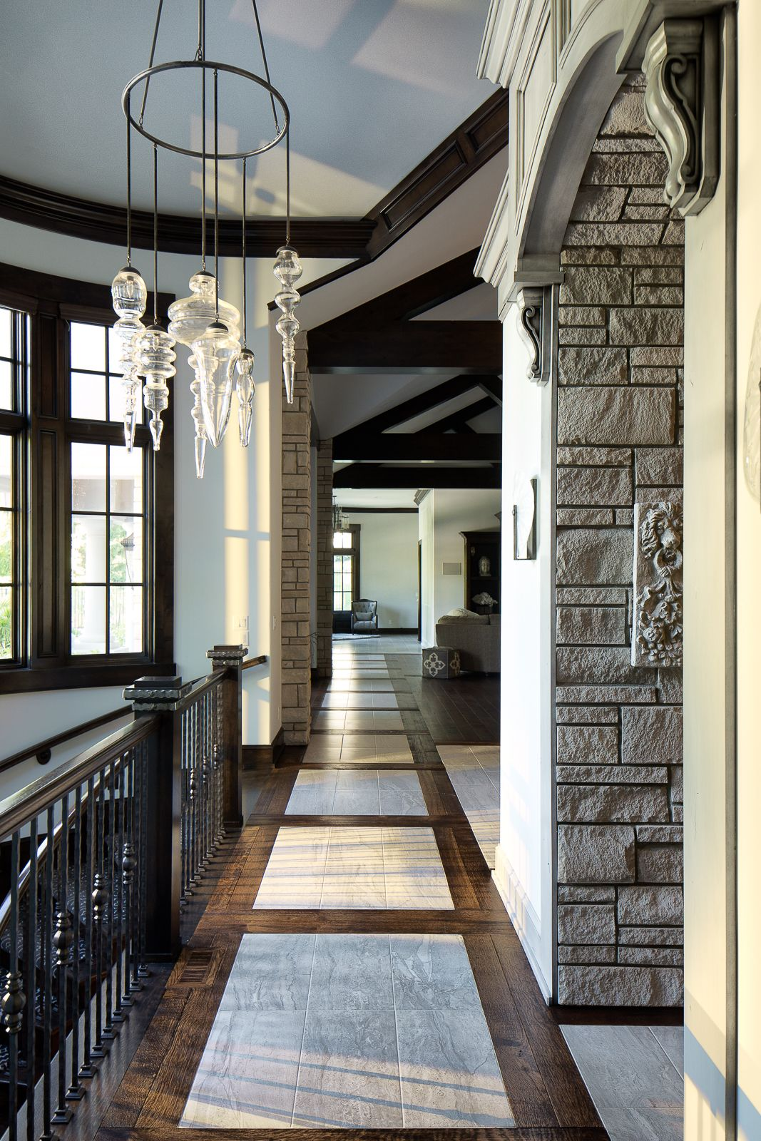 Natural lighting in homes Basement Contemporary Eclectic Custom Home Main Level Hallway An Abundance Of Natural Lighting And High Ceilings Combined With Sophisticated Floor Design And Pinterest Contemporary Eclectic Custom Home Main Level Hallway An Abundance