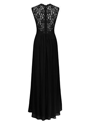 Miusol Womens Casual Deep V Neck Sleeveless Vintage Wedding Maxi Dress
